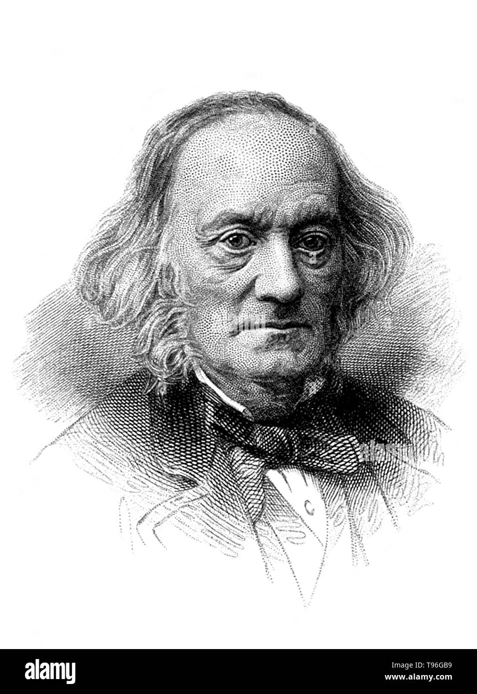 Richard Owen (July 20, 1804 - December 18, 1892) was an English biologist, comparative anatomist and paleontologist. One of his positions was that of prosector for the London Zoo, which meant that he had to dissect and preserve any zoo animals that died in captivity. This gave him vast experience with the anatomy of exotic animals. He produced a vast array of scientific work, but is probably best remembered today for coining the word Dinosauria. - Stock Image