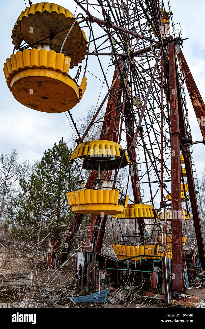 Pripyat, Zone of Alienation - the abandoned town near the Chernobyl Nuclear Power Plant - Stock Image