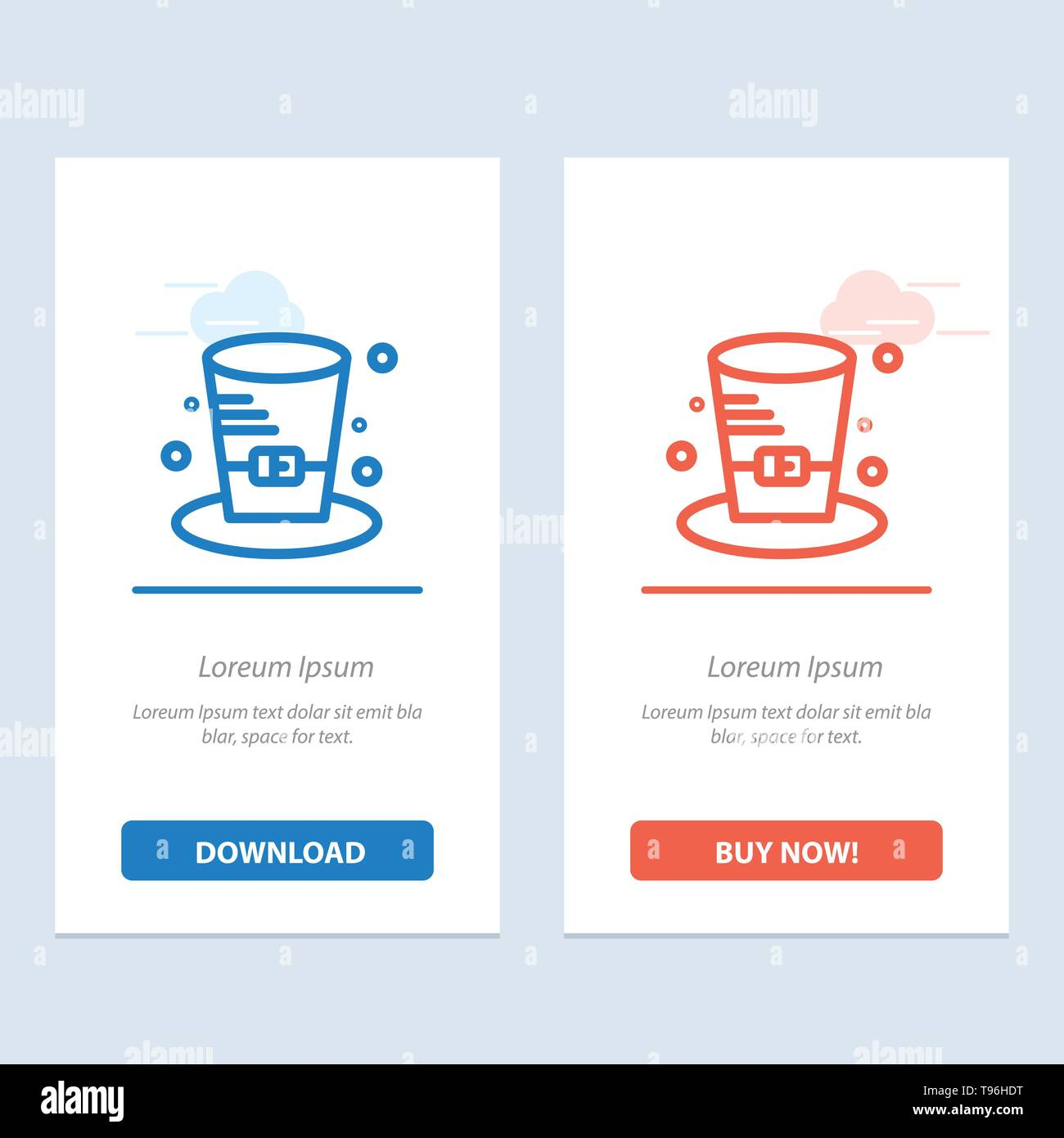 Cap, Detective, Hat, Canada  Blue and Red Download and Buy Now web Widget Card Template - Stock Image