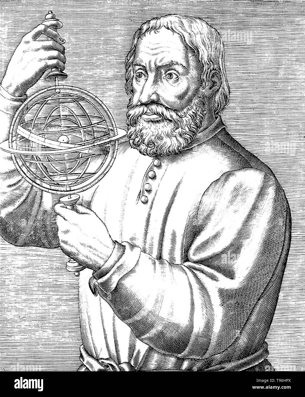 Johannes de Sacrobosco (circa 1195 - circa 1256), was a scholar, monk and astronomer who was a teacher at the University of Paris. He wrote a short introduction to the Hindu-Arabic numeral system which became the most widely read introduction to that subject in the later medieval centuries (judging from the number of manuscript copies that survive today). - Stock Image