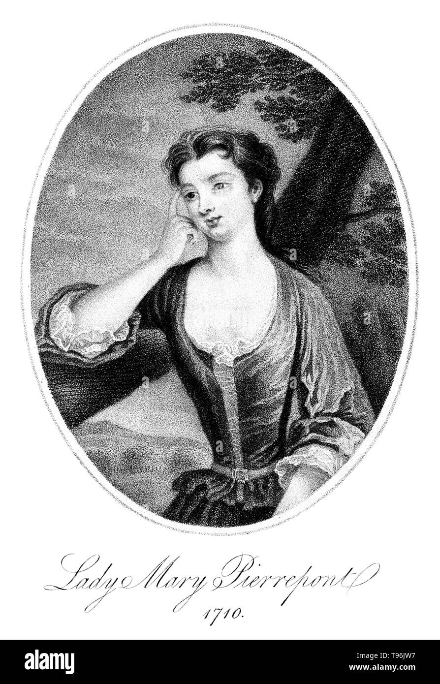 Lady Mary Wortley Montagu (1689 - August 21, 1762) was an English aristocrat, letter writer and poet. Lady Mary is today chiefly remembered for her travels to the Ottoman Empire, as wife to the British ambassador to Turkey. The story of this voyage and of her observations of Eastern life is told in Letters from Turkey. During her visit she was charmed by the beauty and hospitality of the Ottoman women she encountered. She wrote about misconceptions previous travelers, specifically male travelers, had recorded about the religion, traditions and the treatment of women in the Ottoman Empire. Her  - Stock Image