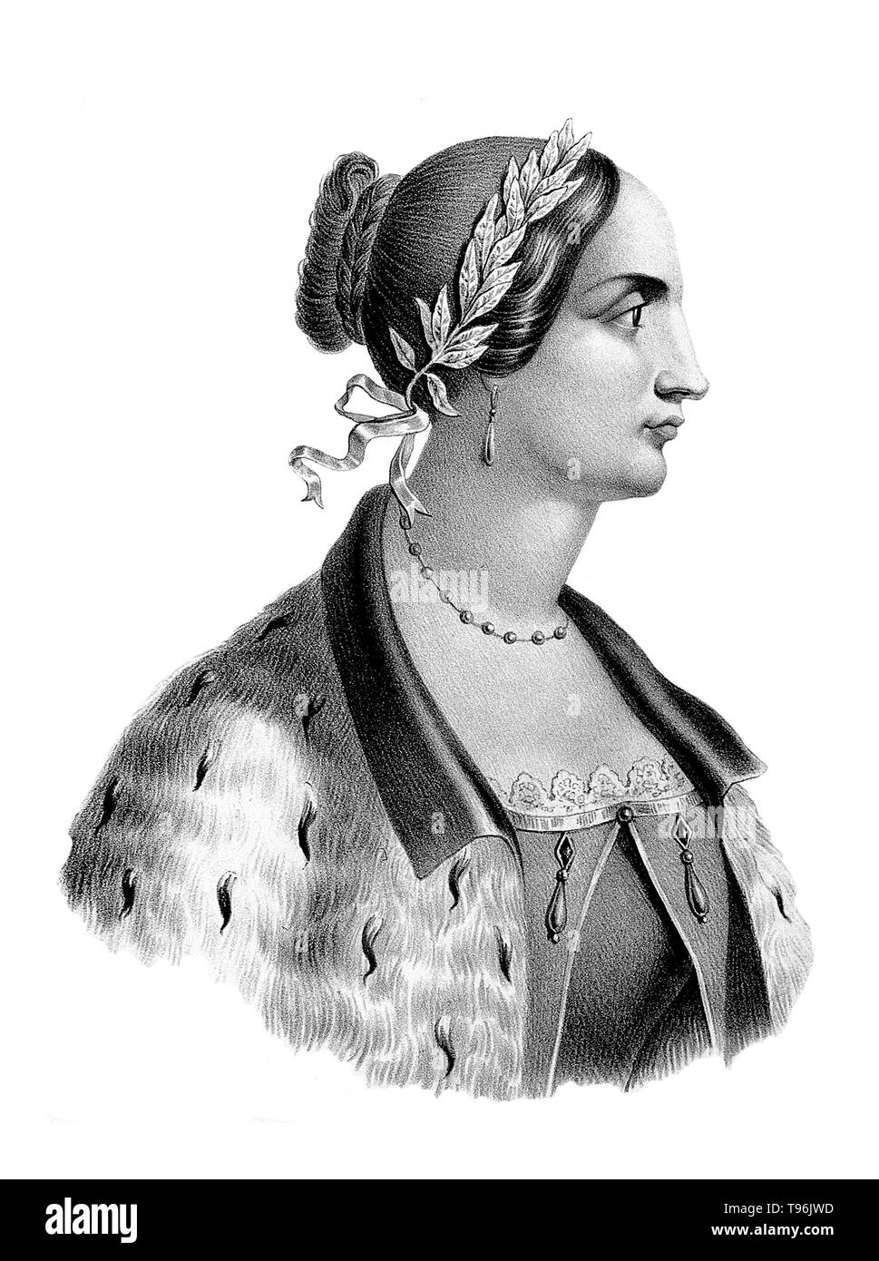 Laura Maria Caterina Bassi (October 1711 - February 20,  1778) was an Italian physicist and academic. She received a doctoral degree in Philosophy from the University of Bologna in May 1732. She was the first woman to earn a professorship in physics at a university. She is recognized as the first woman in the world to be appointed a university chair in a scientific field of studies. - Stock Image