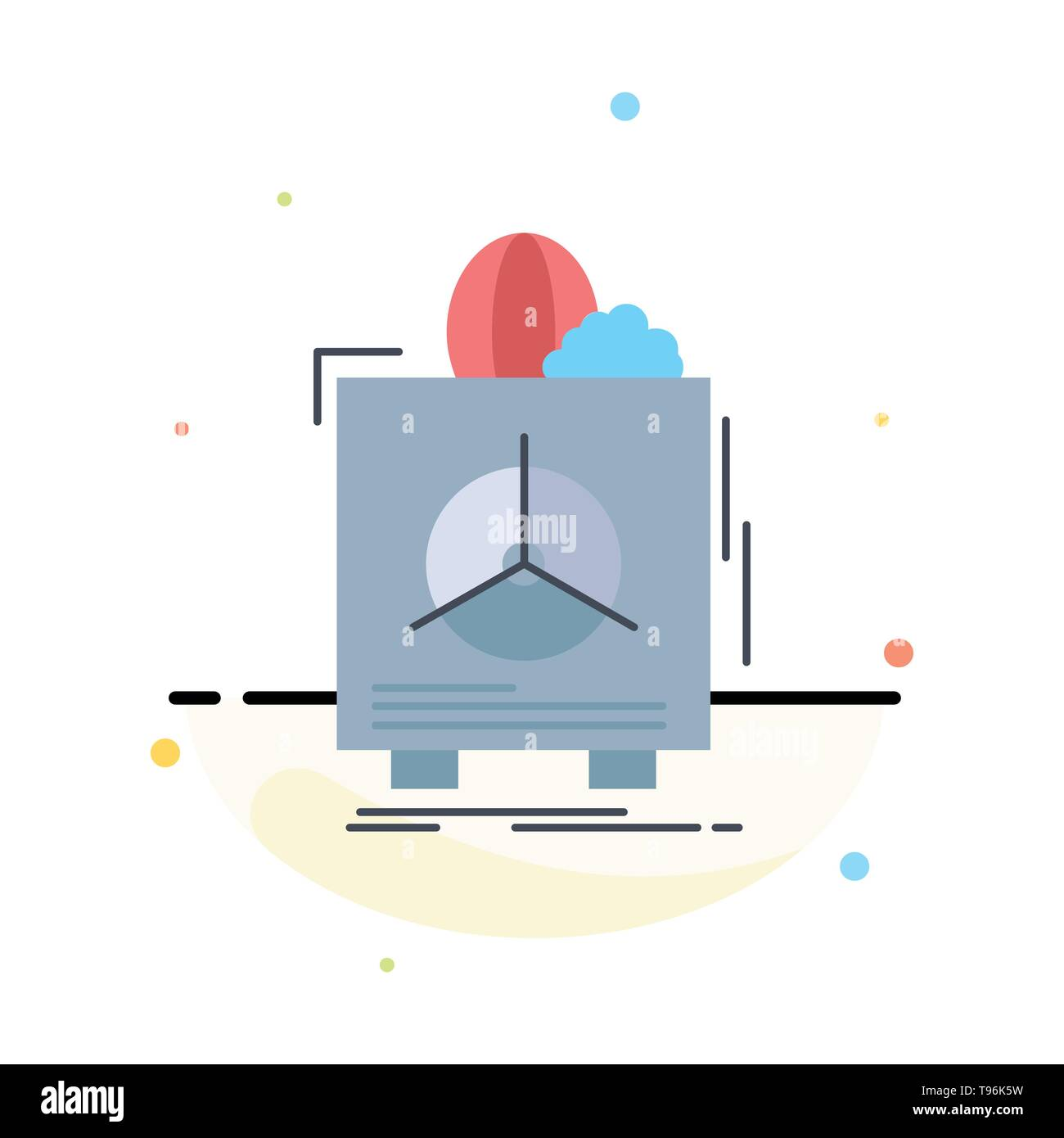 insurance, Fragile, product, warranty, health Flat Color Icon Vector - Stock Vector