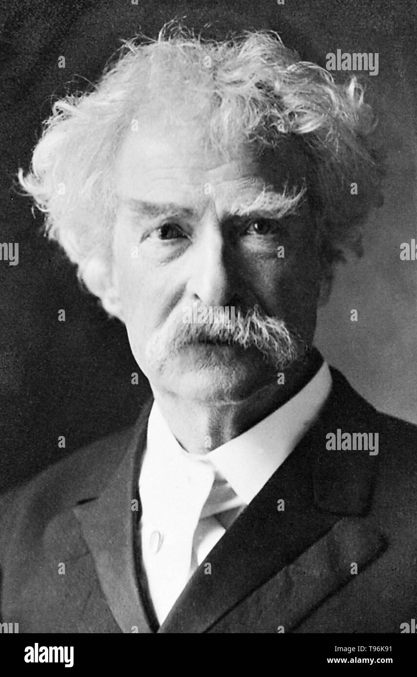 AMERICAN AUTHOR MARK TWAIN SAMUEL CLEMENS OIL PAINTING ART REAL CANVAS PRINT