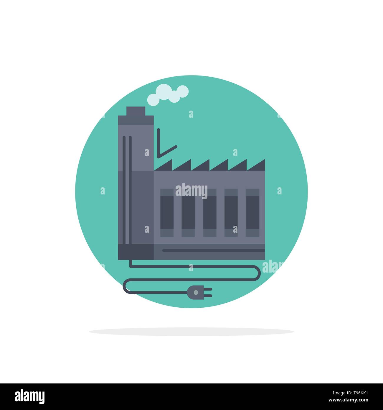 Consumption, resource, energy, factory, manufacturing Flat Color Icon Vector - Stock Image