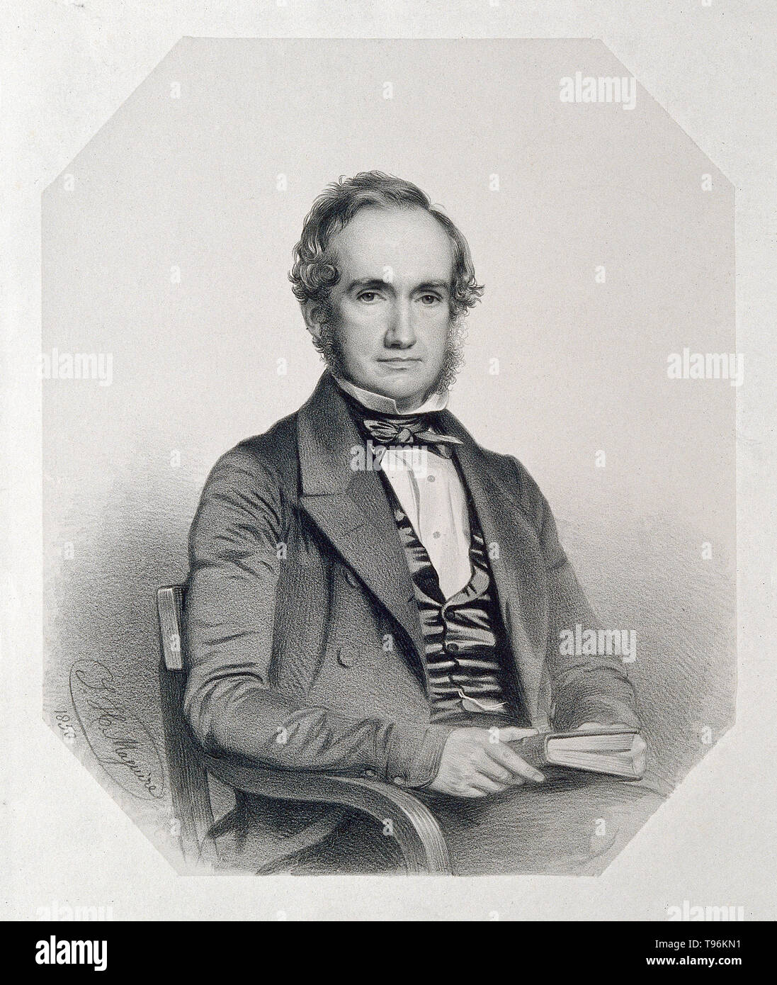 William Henry Harvey (February 5, 1811 - May 15, 1866) was an Irish botanist and phycologist. Harvey was an authority on algae and bryophytes (mosses). In 1844 Harvey became curator of the Trinity College Herbarium and in 1848 Professor of Botany of the Royal Dublin Society. In 1853 he made a 3 year voyage, visiting South Africa, Ceylon, Australia, New Zealand, Tonga, Fiji, and Chile. On his return he published further important books dealing with the botany of North America and South Africa and in 1858 was appointed Professor of Botany at Trinity College, Dublin. As a result of the publicatio - Stock Image