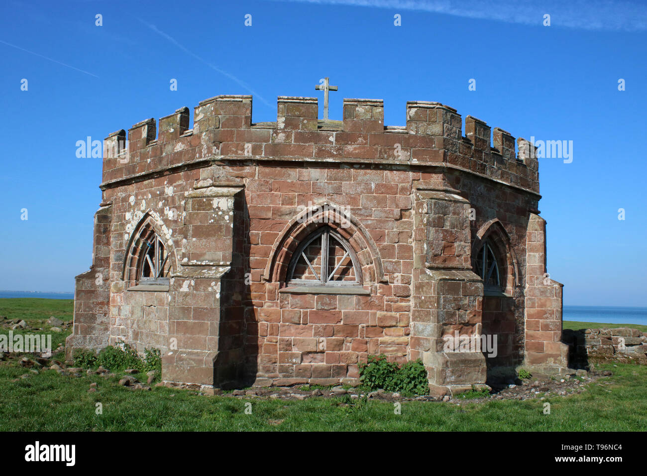 The Chapter House at Cockersand Abbey, Lancashire, Grade 1 listed building and Scheduled Ancient Monument that was built as a premonstratensian priory. - Stock Image