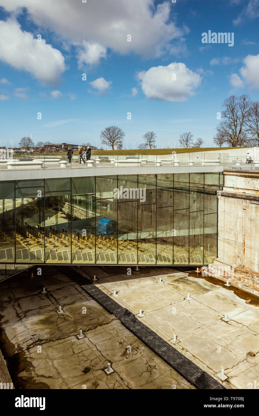 HELSINGOR DENMARK; MARCH 24, 2019: The repurposed old shipyard, now a cultural centre. - Stock Image