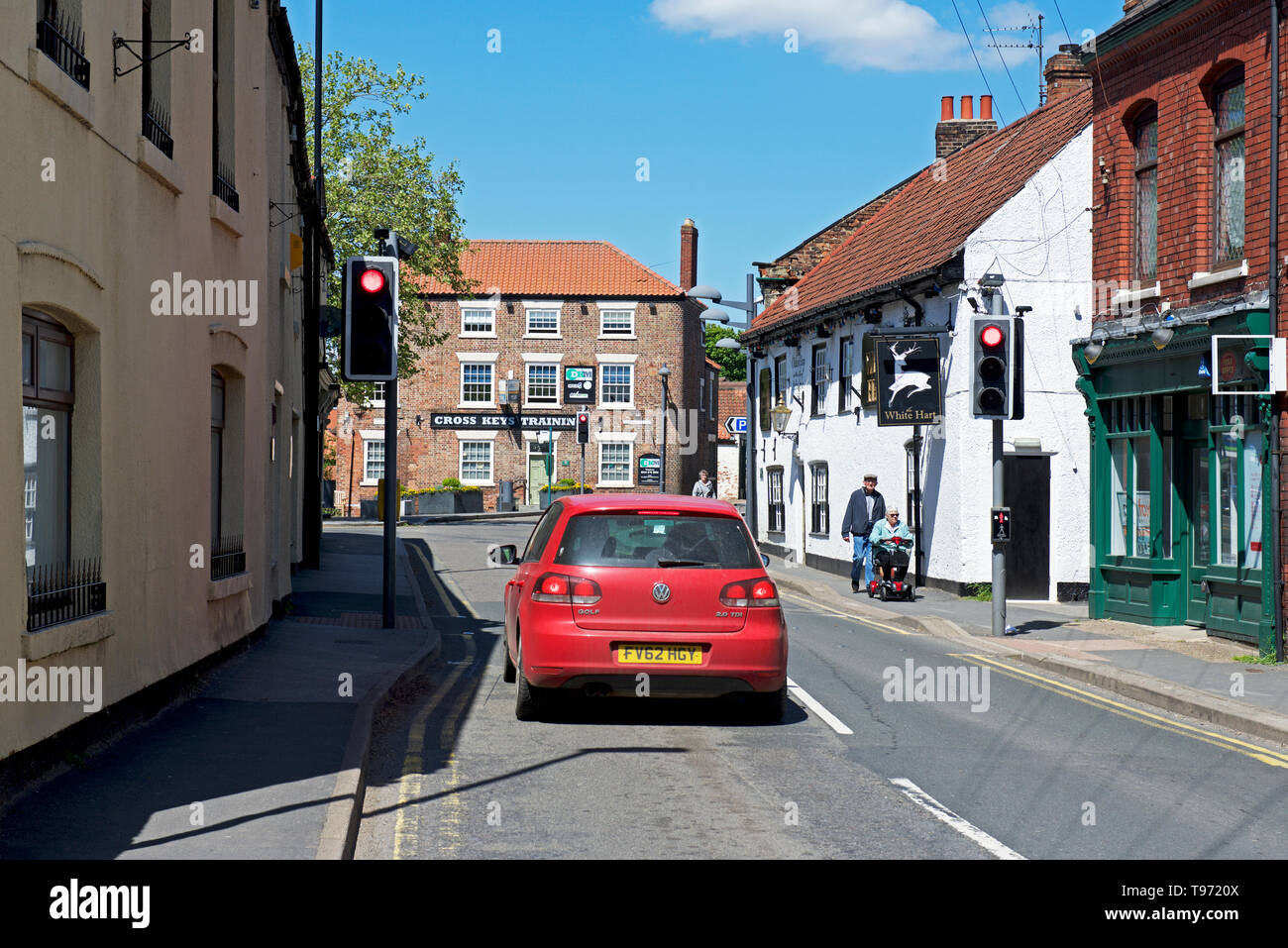 Car in the village of Crowle, North Lincolnshire, England UK - Stock Image