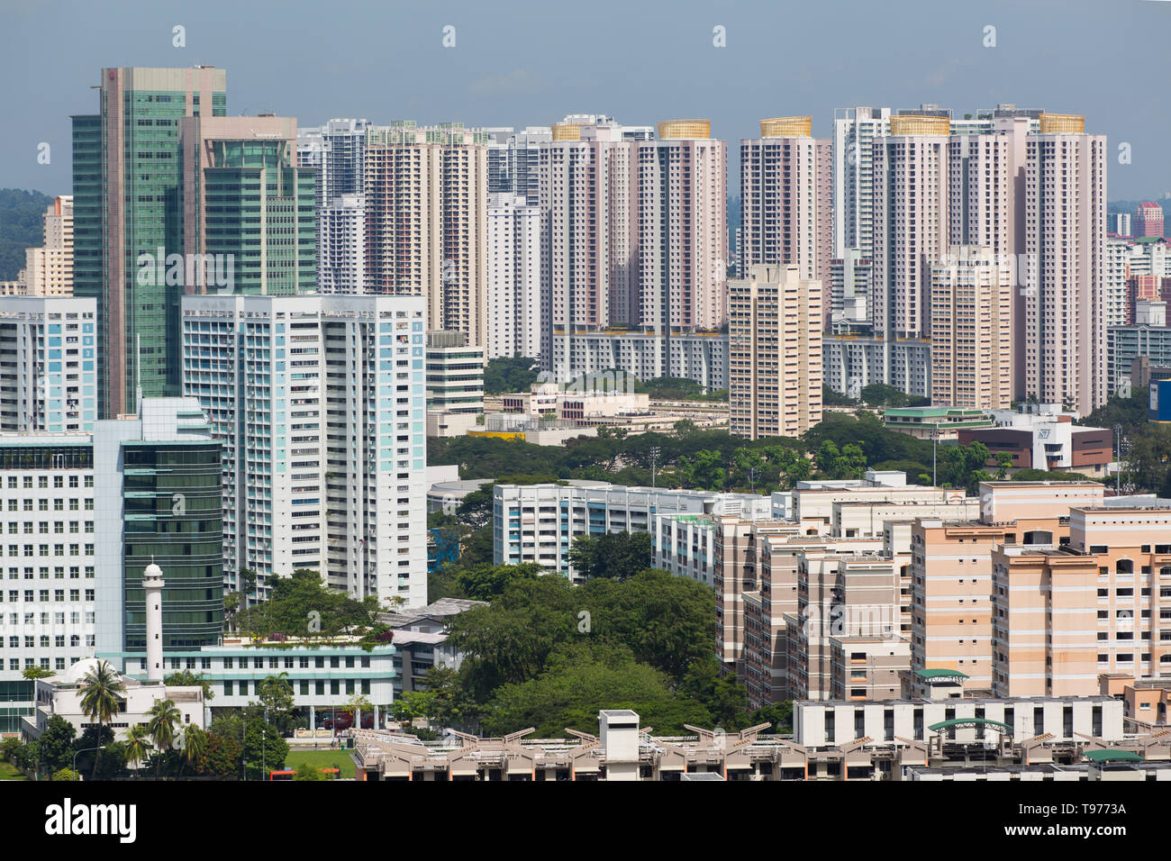 Urban view of high-rise housing estates at Toa Payoh district in Singapore. - Stock Image
