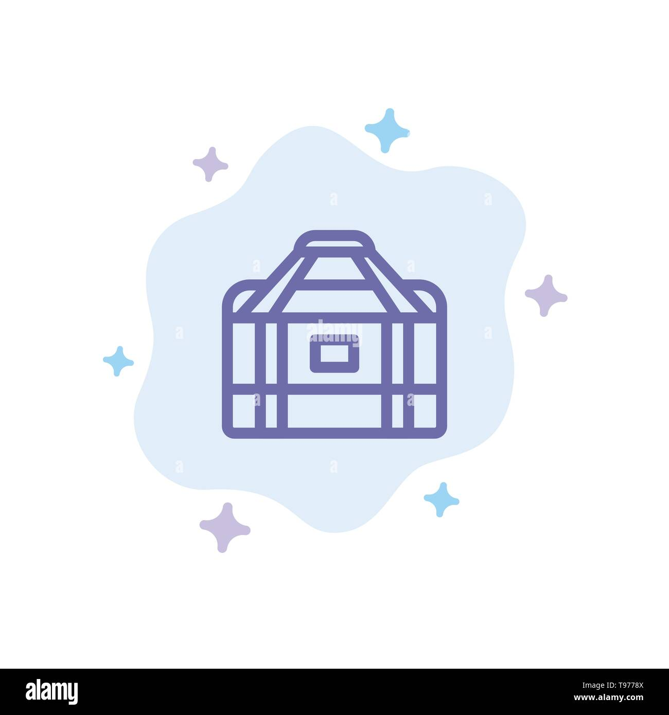 Bag, Equipment, Gym, Sports Blue Icon on Abstract Cloud Background - Stock Image