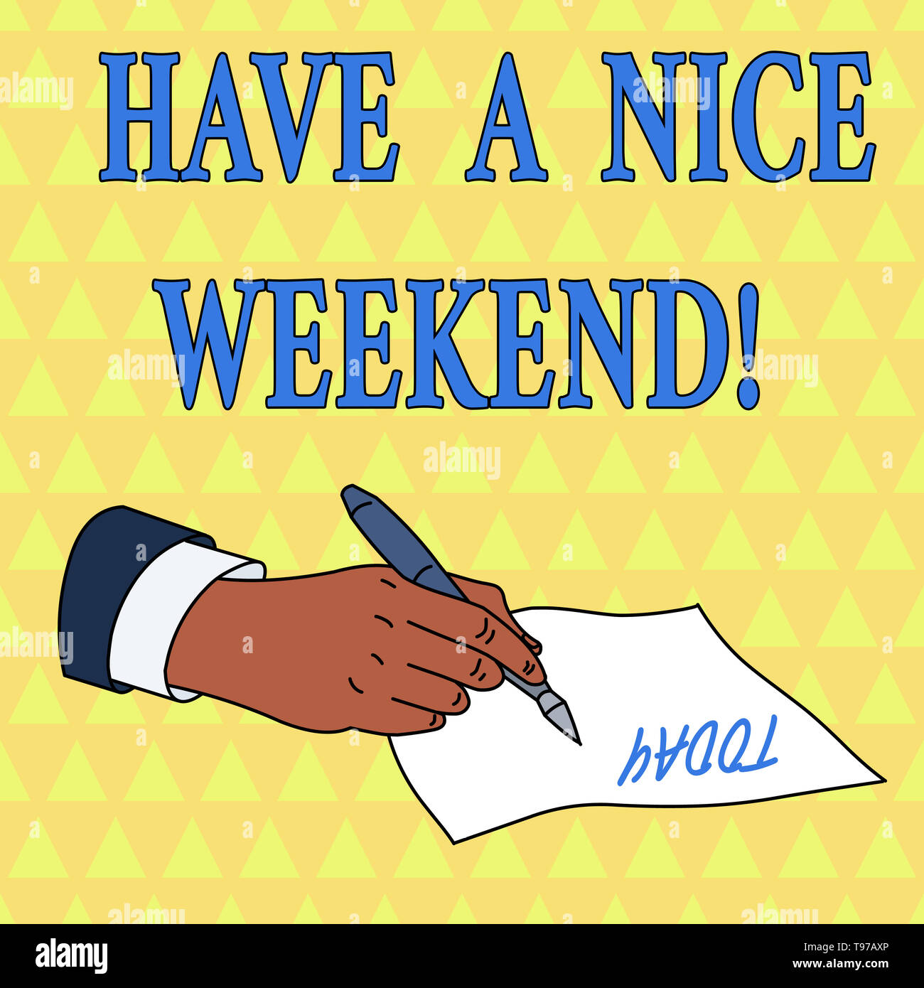 Word writing text Have A Nice Weekend. Business photo showcasing wishing someone that something nice happen holiday - Stock Image