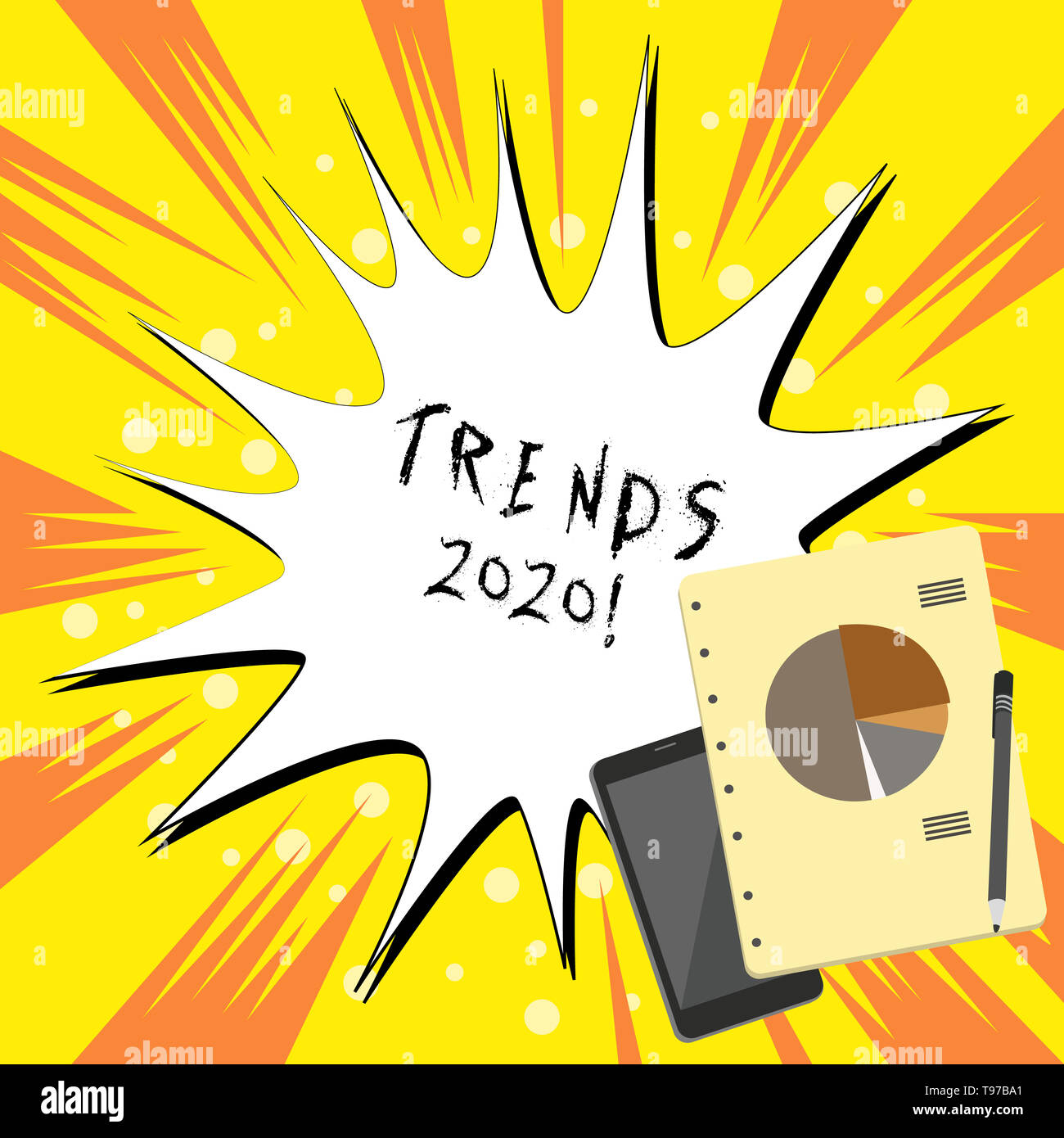 Text sign showing Trends 2020  Business photo text general direction