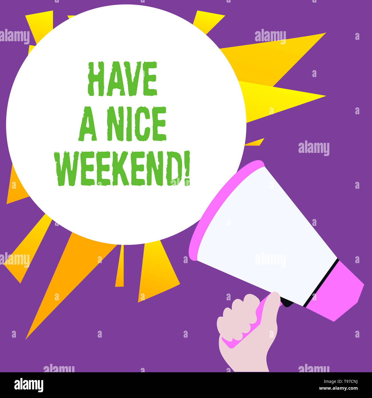 Writing note showing Have A Nice Weekend. Business concept for wishing someone that something nice happen holiday - Stock Image