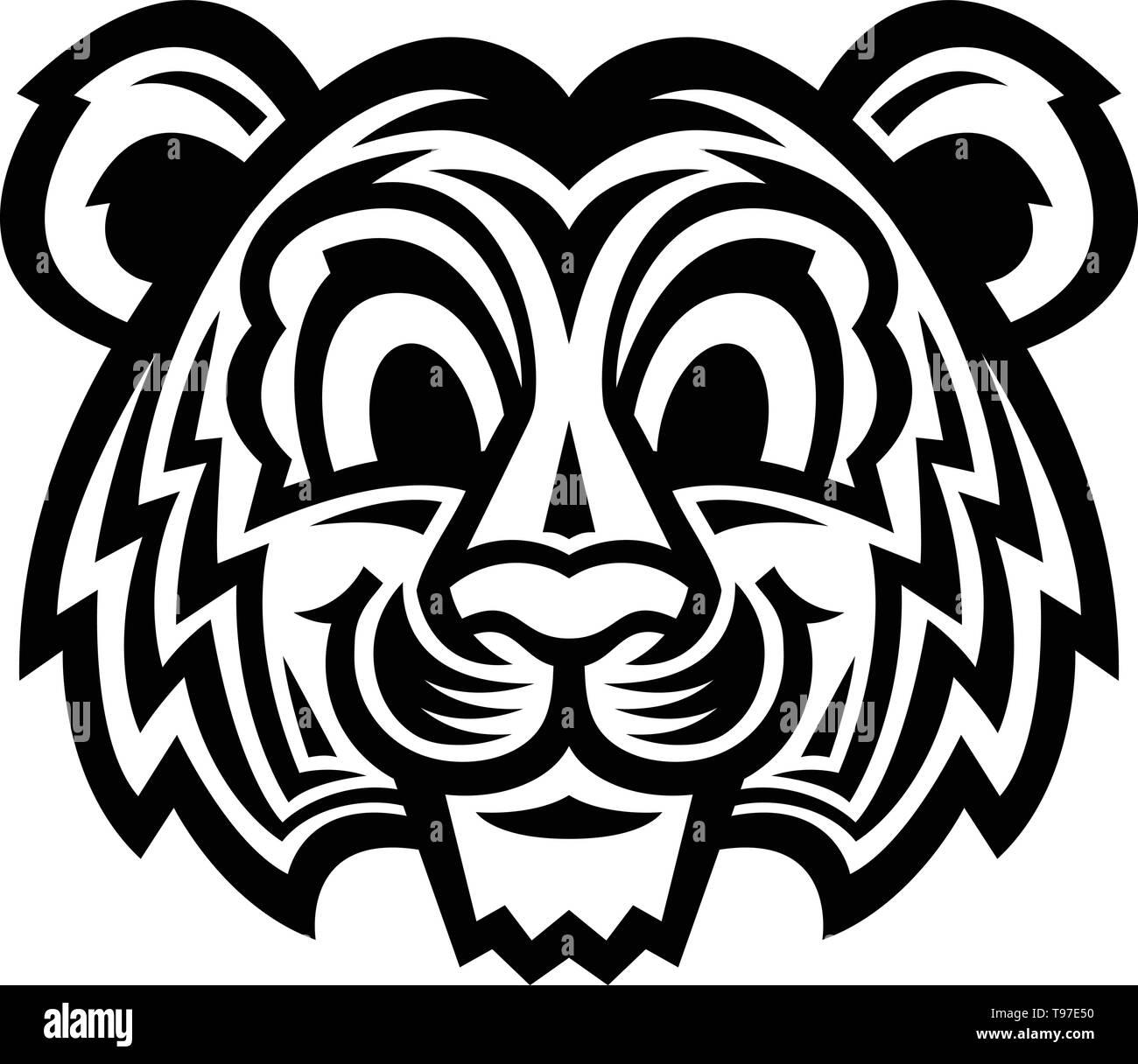 Cute Cartoon Tiger Cat - Stock Image