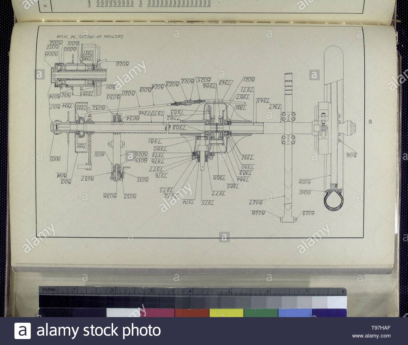 Anonymous-Plate No  2 - Rear axle [Drawing] - Stock Image