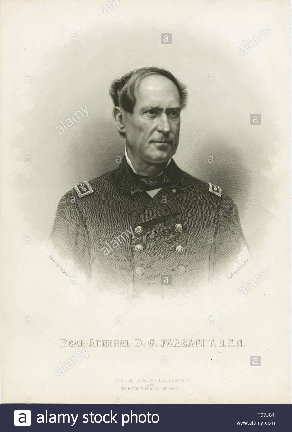 Anonymous-Rear Admiral D G  Farragut, U S N - Stock Image