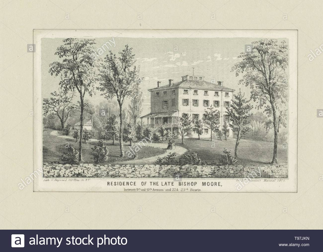 Anonymous-Residence of the late Bishop Moore between 9th and 10th Avenue and 22 and 23rd Streets - Stock Image