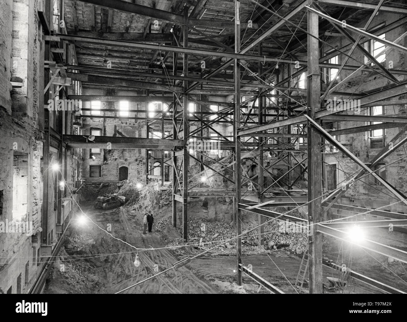Renovation Work on the White House, circa 1950 - Stock Image