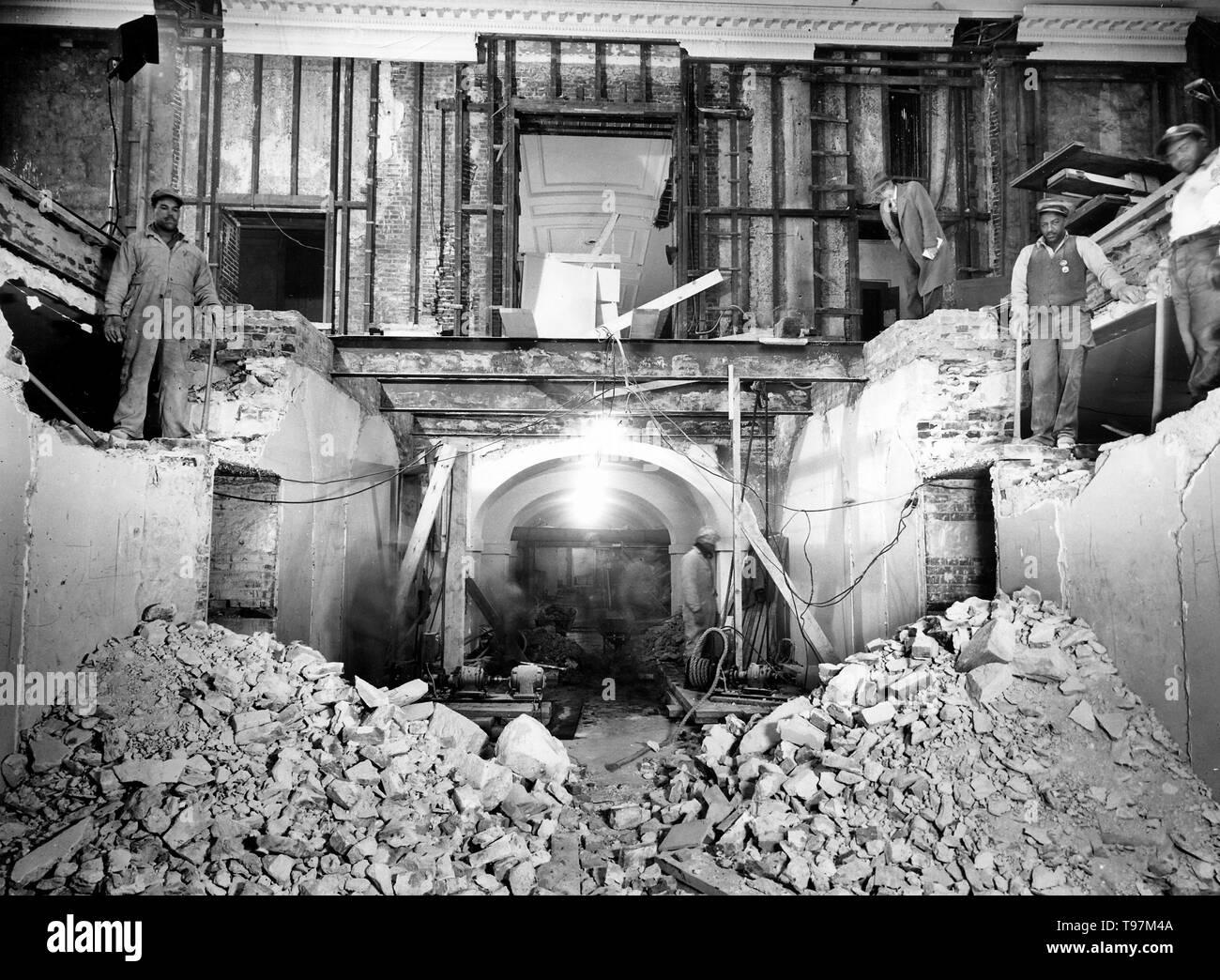 White House, Lower Corridor, 02/14/1950 - Stock Image