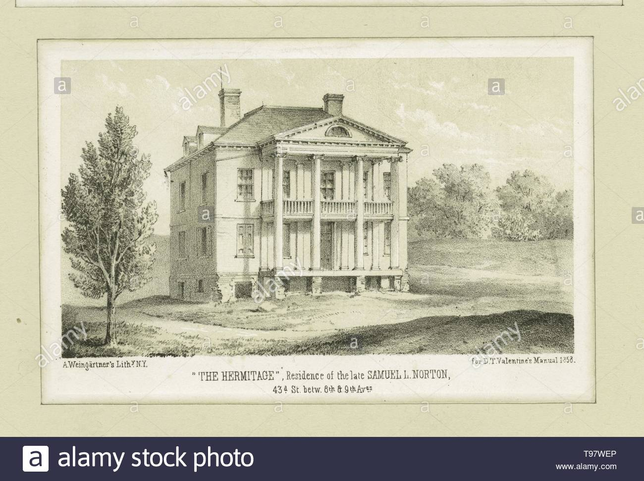 Anonymous-The Hermitage, residence of the late Samuel L  Norton, 43d St  betw  8th &amp, 9th Aves - Stock Image