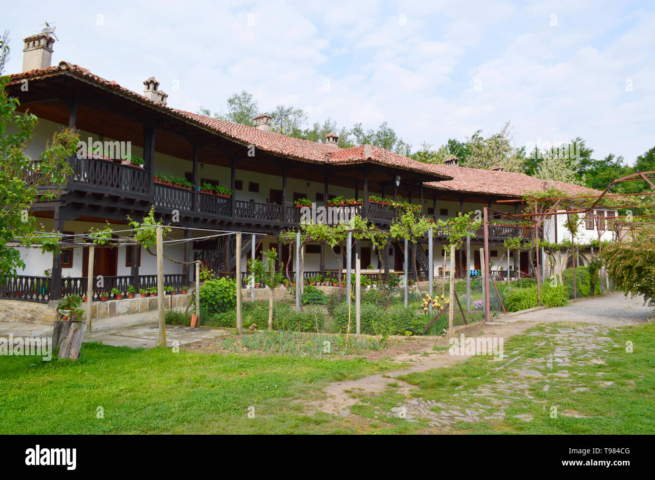 "Monastery ""The Nativity of Mother of God"", near the Village of Kilifarevo, Bulgaria - Stock Image"