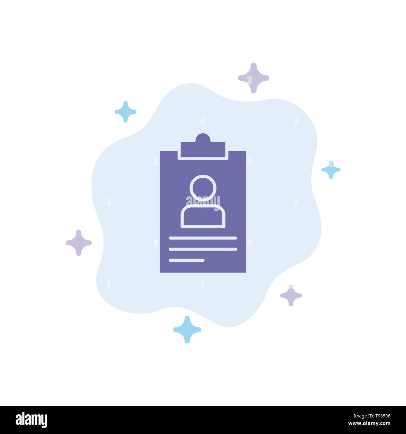 Resume Application Clipboard Curriculum Cv Blue Icon On