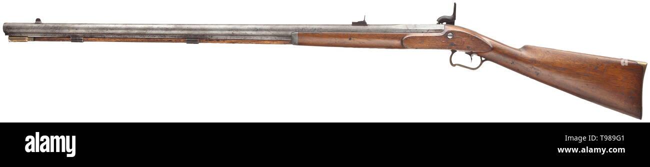 A percussion rifle, J  Henry & Son in Boulton, Pennsylvania, circa