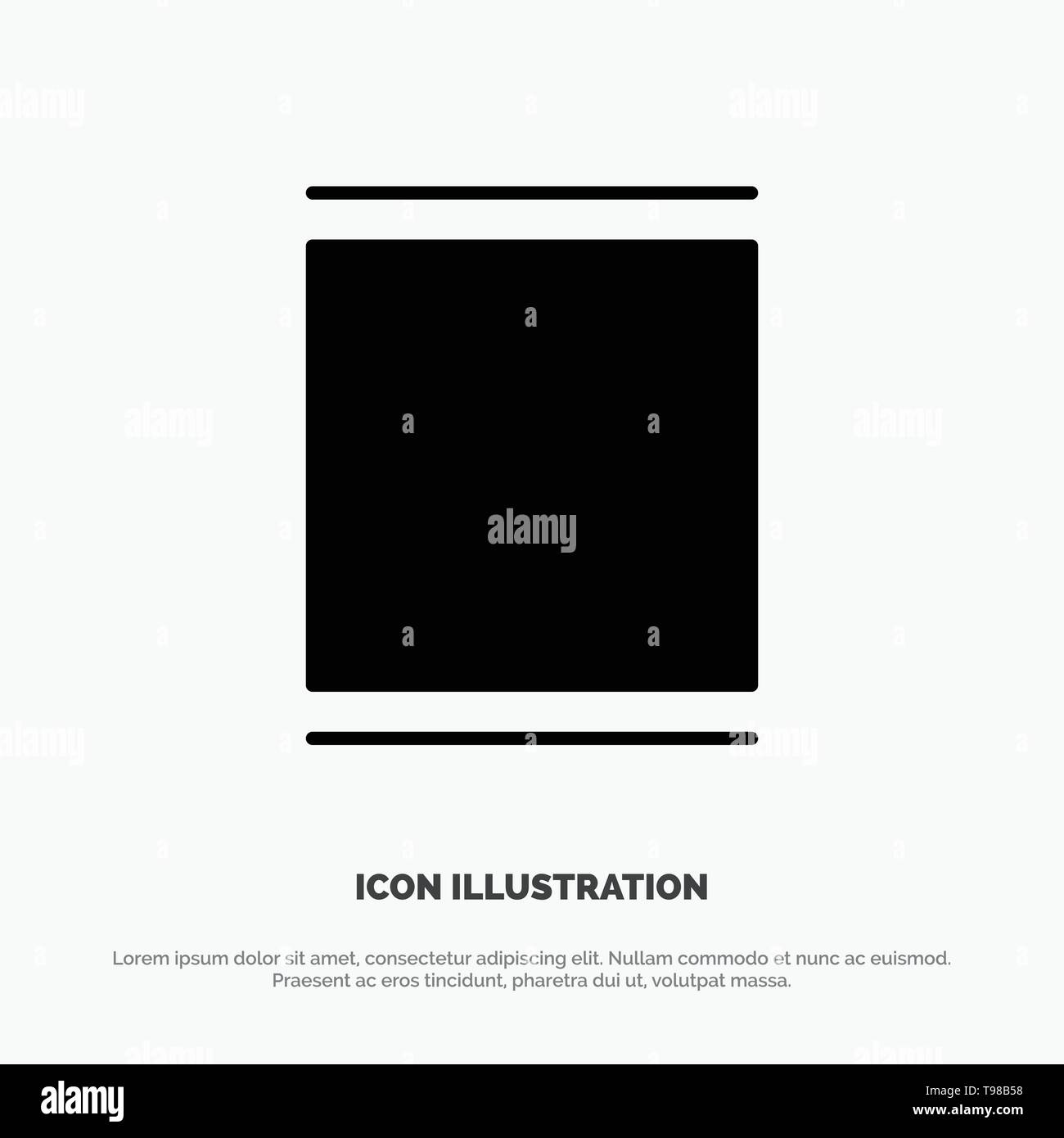 Gallery, Instagram, Sets, Timeline solid Glyph Icon vector - Stock Image