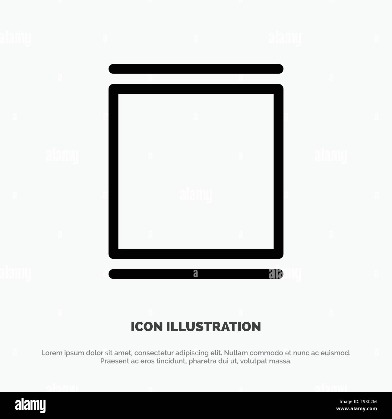 Gallery, Instagram, Sets, Timeline Line Icon Vector - Stock Image