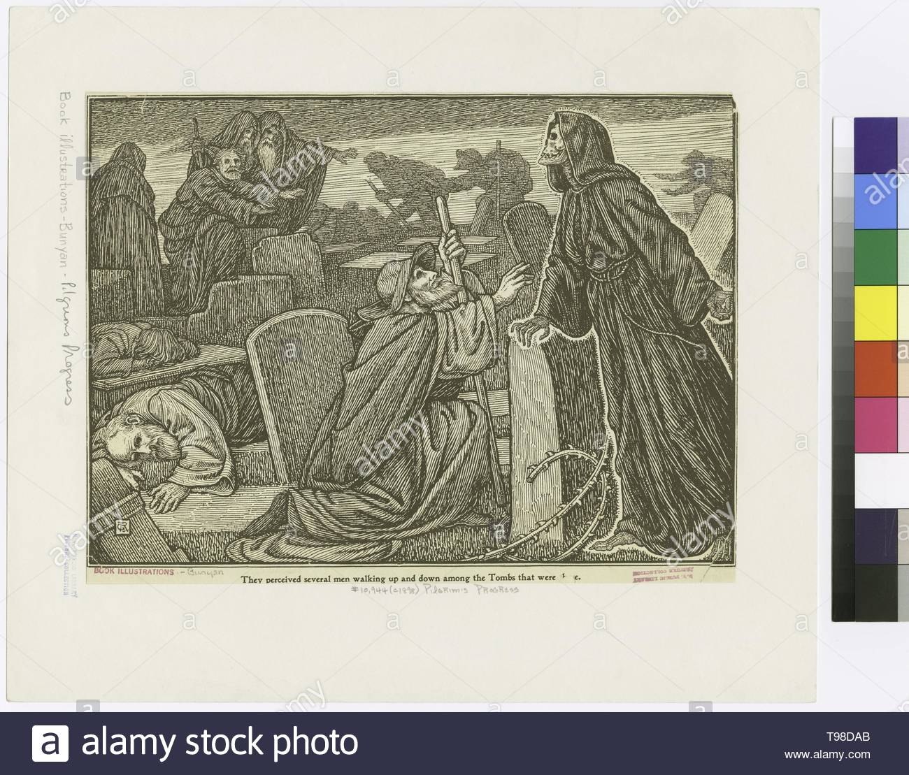 Anonymous-They perceived several men walking up and down among the tombs that were there - Stock Image
