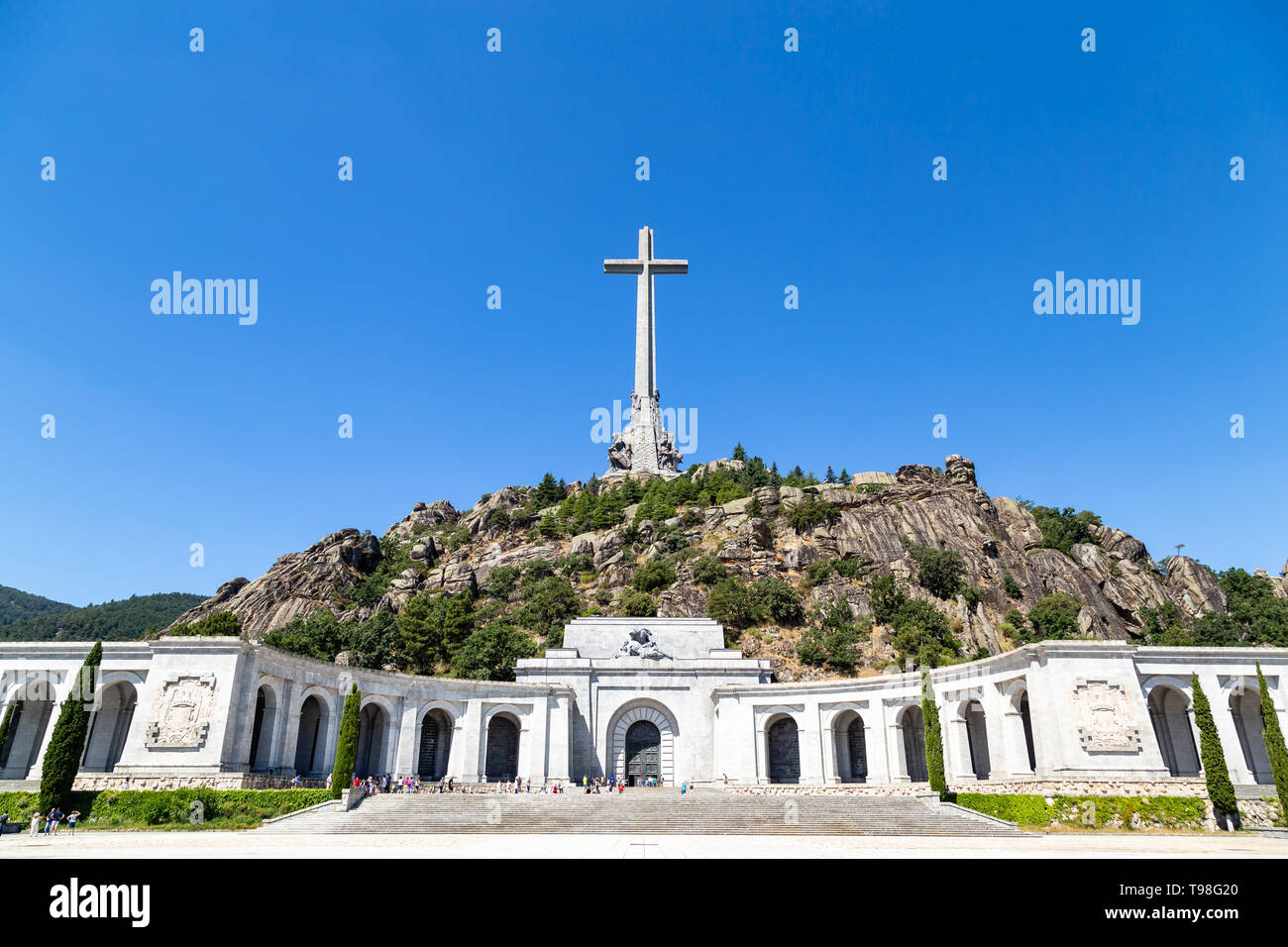 Valley of the Fallen, Valle de Los Caidos , the burying place of the Dictator Franco on the Sierra the Guadarrama, Madrid, Spain - Stock Image