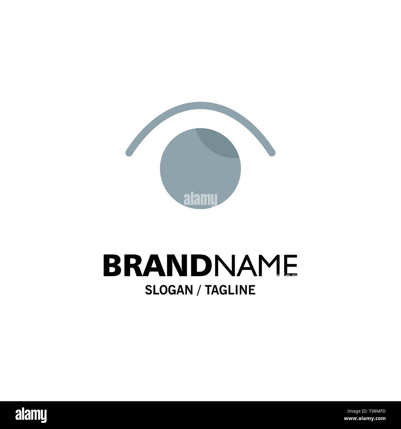 Eye, View, Watch, Twitter Business Logo Template. Flat Color - Stock Image