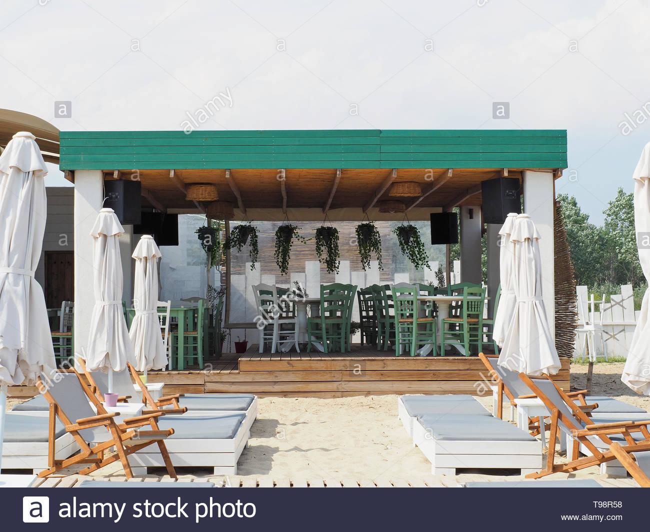 view of beach bar - Stock Image