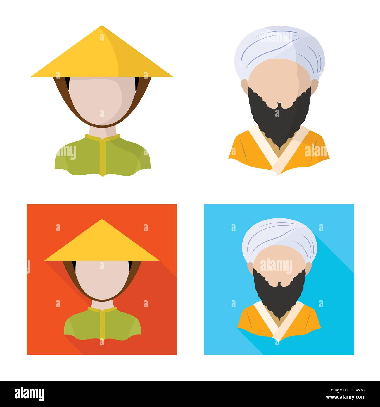 Vector illustration of imitator and resident icon. Set of imitator and culture vector icon for stock. - Stock Image