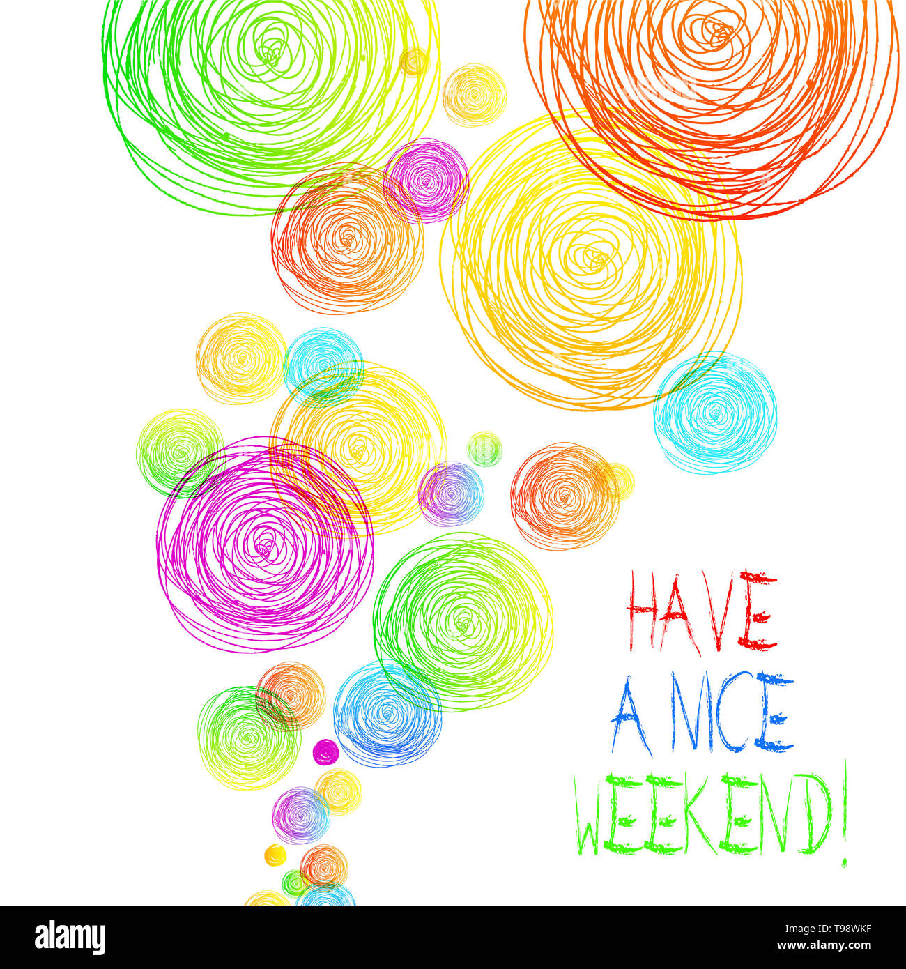 Handwriting text Have A Nice Weekend. Conceptual photo wishing someone that something nice happen holiday - Stock Image