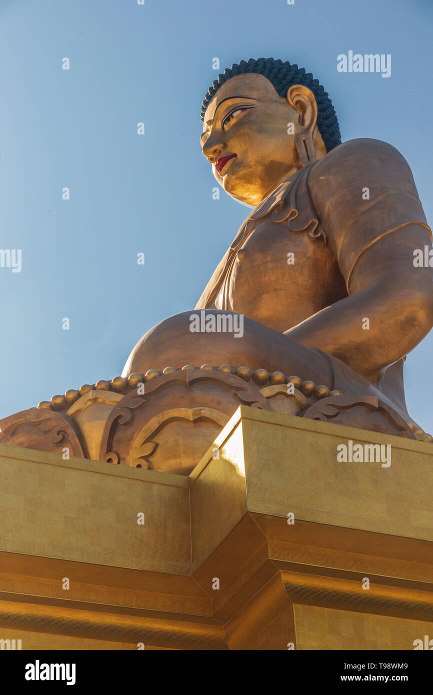Buddha Dordenma statue in Thimphu, Bhutan - Stock Image