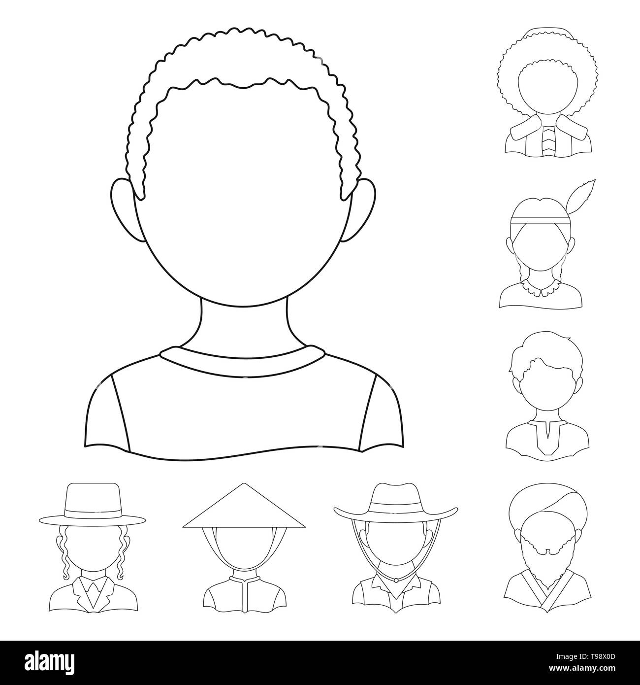Vector design of imitator and resident icon. Collection of imitator and culture stock vector illustration. - Stock Image