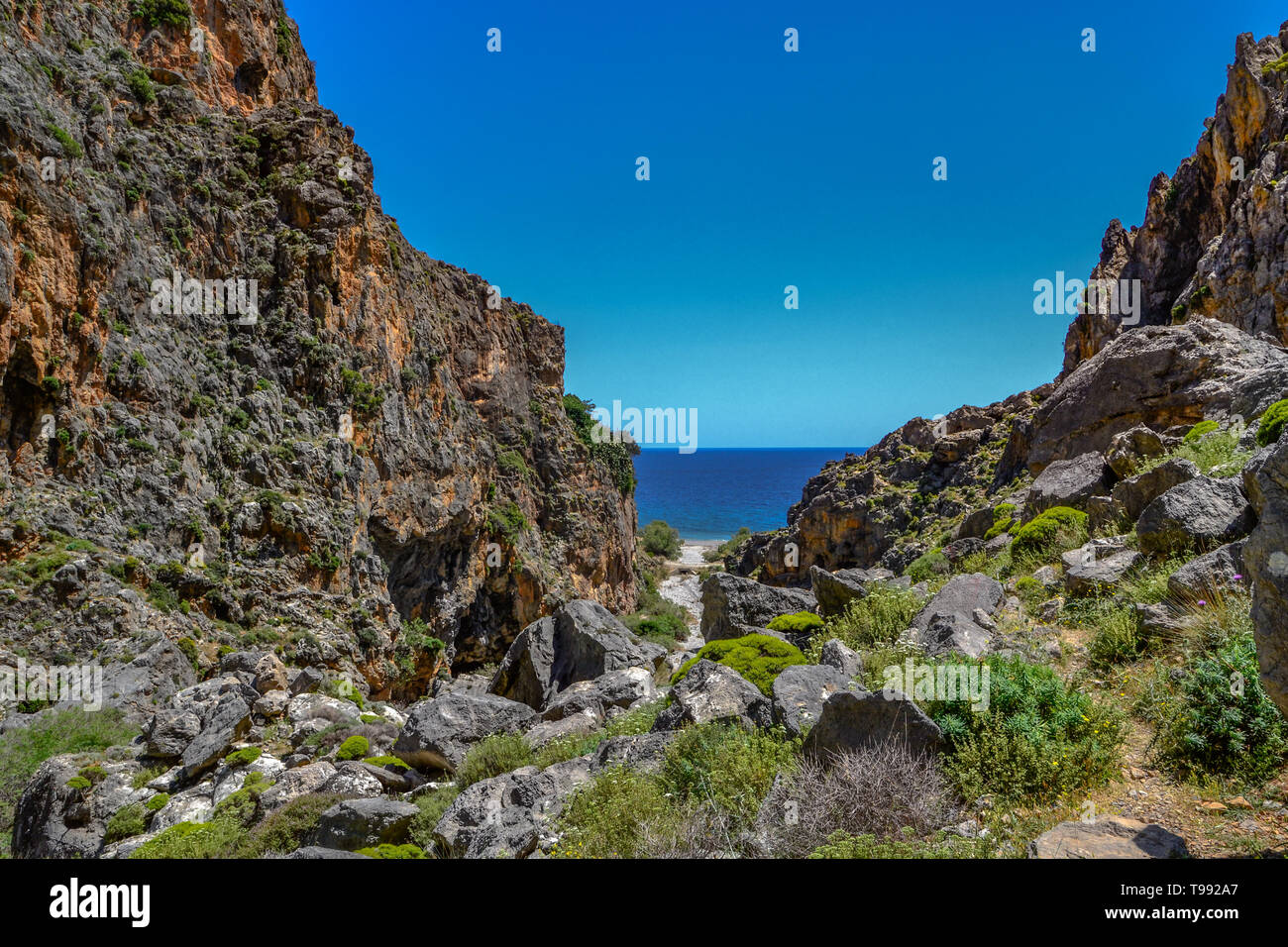 Crete nature and landscapes - Stock Image