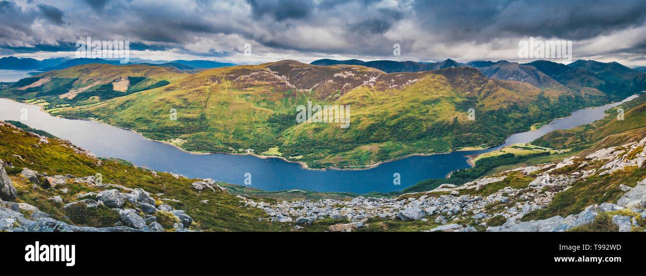 Glencoe (Gleann Comhann), Glen Coe, Loch Leven, Highlands, Schottland|Glencoe (Gleann Comhann), Glen Coe, Loch Leven, Highlands, Scotland - Stock Image