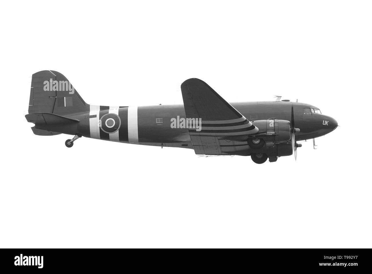 RAF Douglas Dakota, C-47,  D-day 1944 - Stock Image