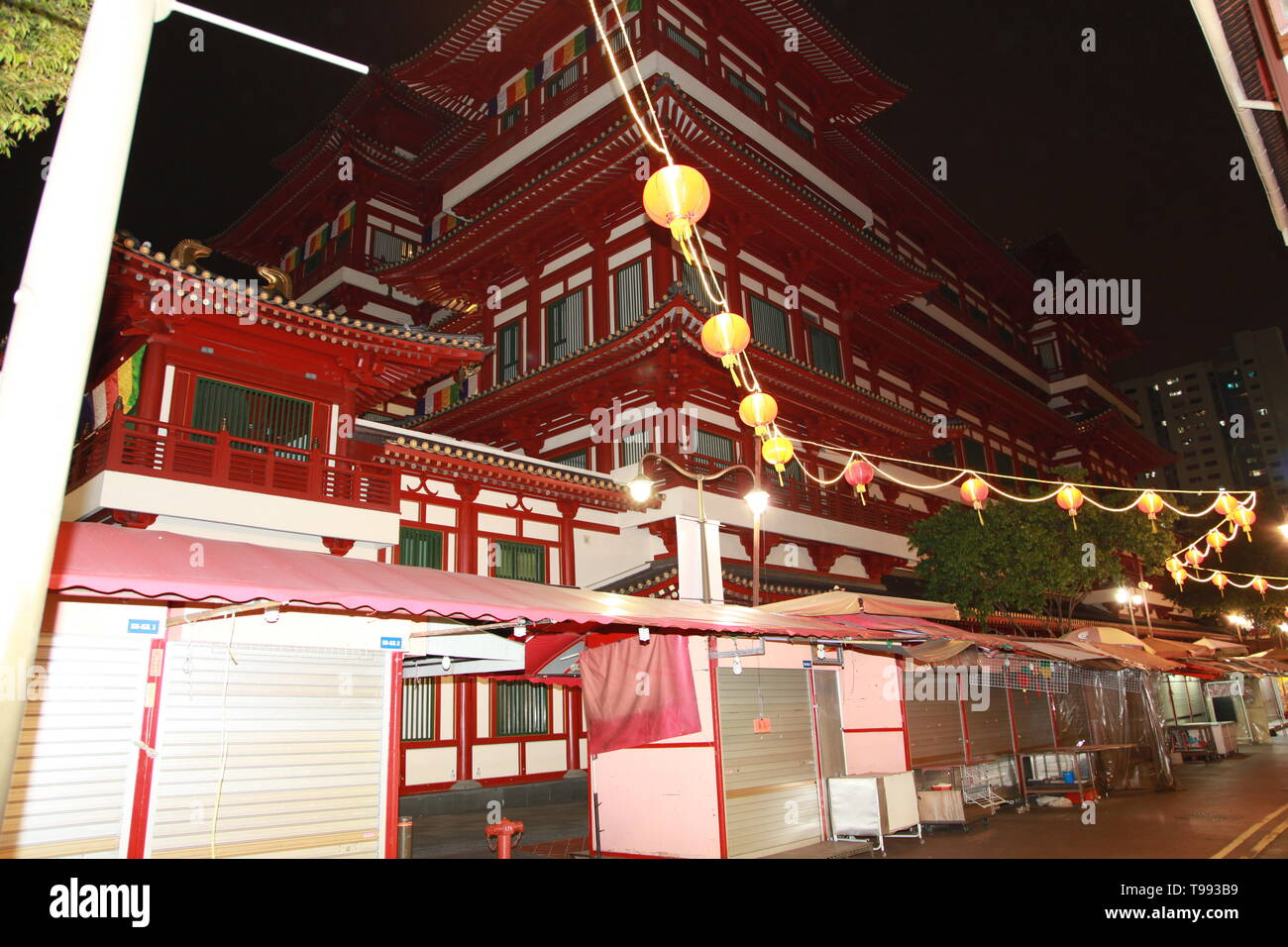 Buddha Tooth Relic Temple, Chinatown, Singapore - Stock Image