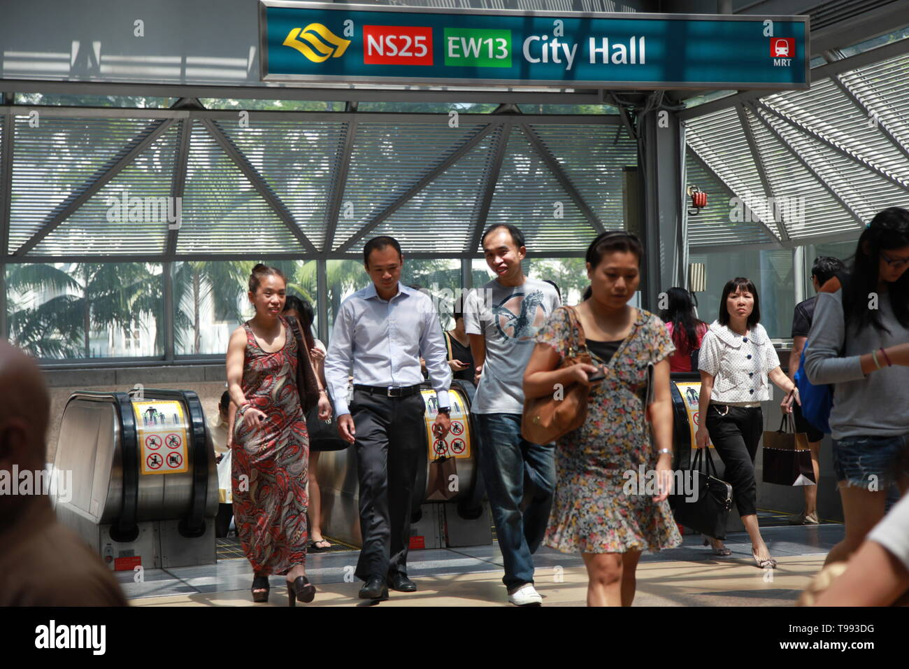 Mass Rapid Transit, MRT Metro system, Singapore Stock Photo