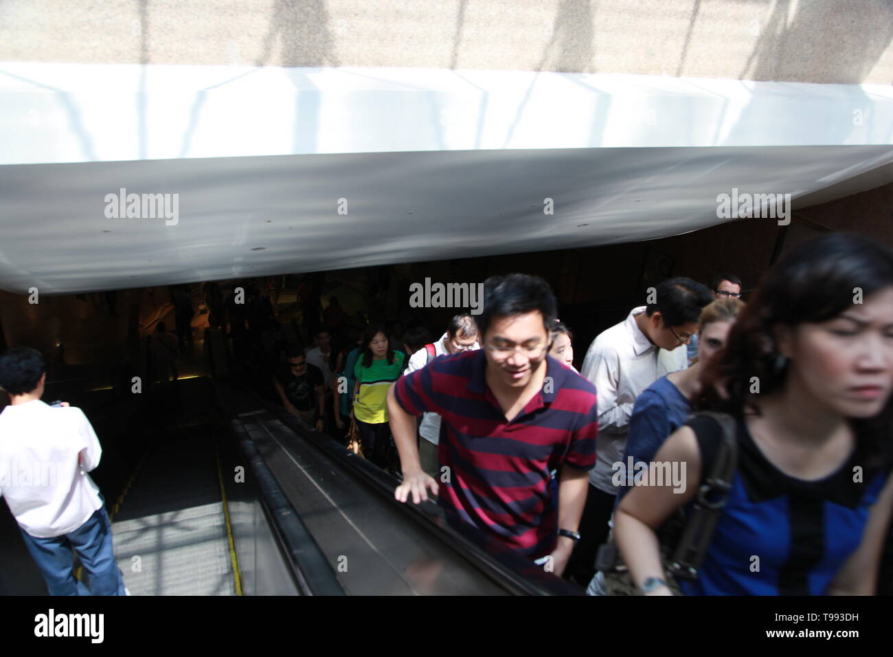 Mass Rapid Transit, MRT Metro system, Singapore Stock Photo