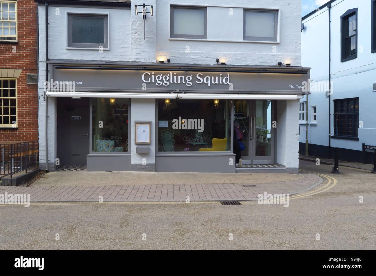 Giggling Squid Thai Restaurant, Walton Street, Jericho, Oxford Stock Photo