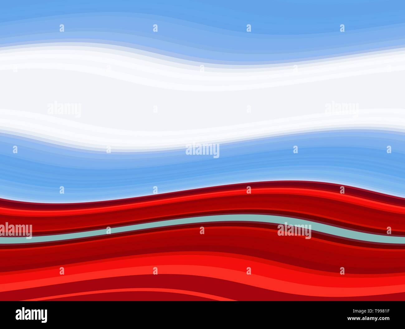 Abstract Sky Blue Strong Red And White Smoke Color Ocean