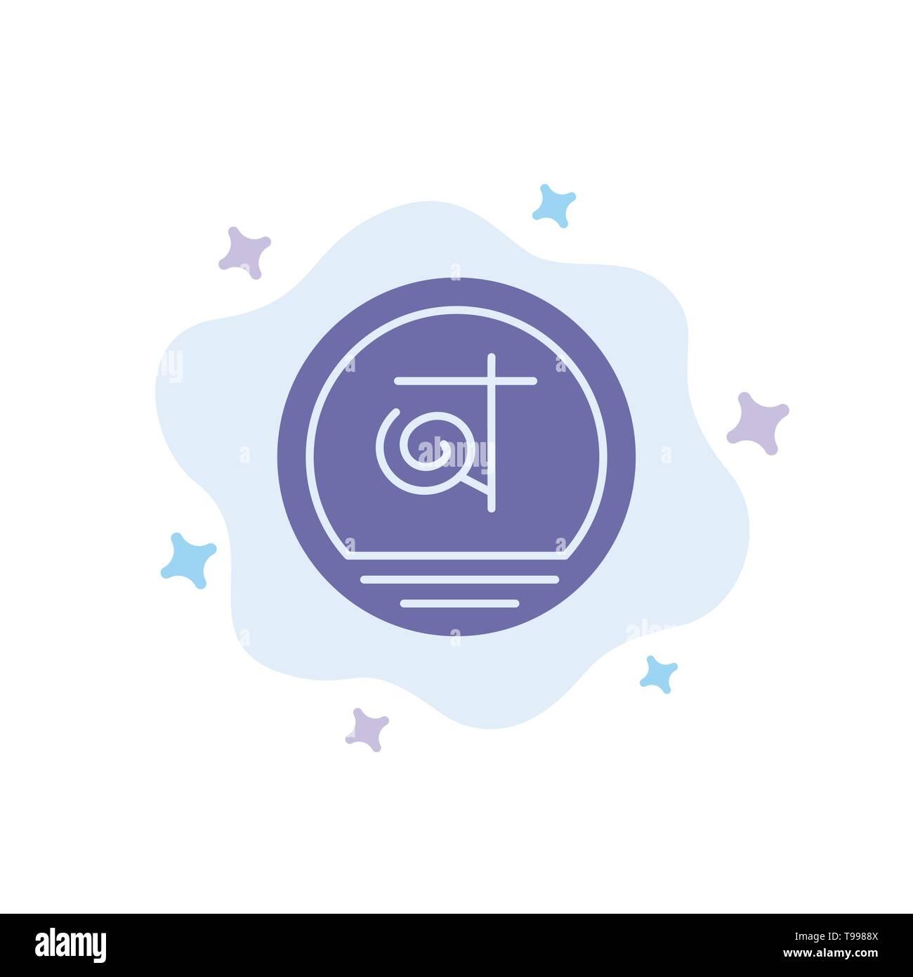 Bangla, Bangladesh, Bangladeshi, Business Blue Icon on Abstract Cloud Background - Stock Image