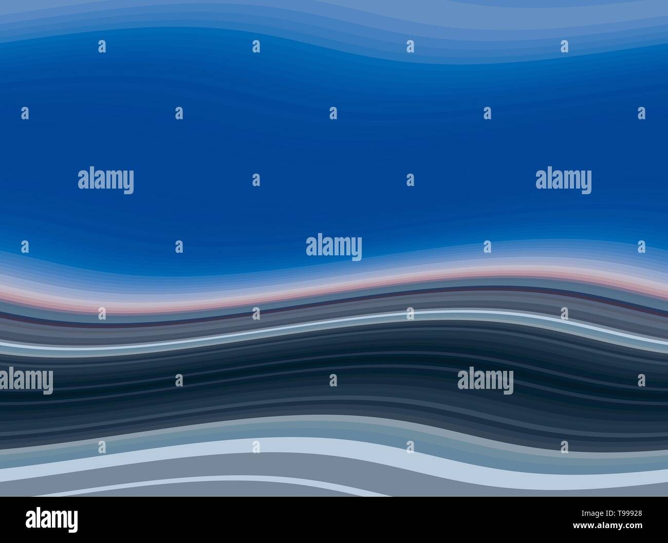 Abstract Waves Background With Strong Blue Very Dark Blue