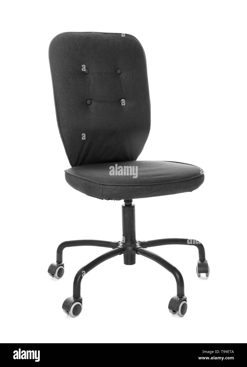 Office chair on white background - Stock Image