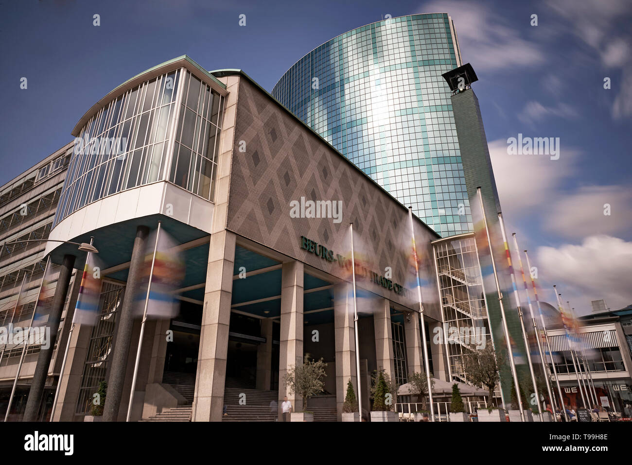 World Trade Centre in the city of Rotterdam in sunshine - Stock Image
